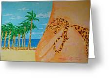 Beach Side View Greeting Card