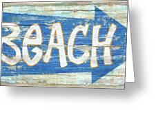 Beach Sign Greeting Card