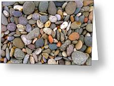 Beach Stones And Pebbles Greeting Card by Sophie De Roumanie