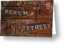 Beach Street Sign Nyc Greeting Card