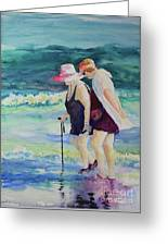 Beach Strollers II Greeting Card
