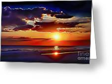 Beach Sunset 5184 Greeting Card