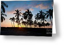 Beach Sunset Greeting Card by Mike Reid