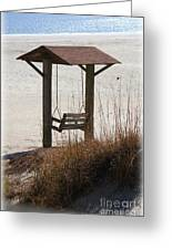 Beach Swing Greeting Card