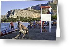 Beach Throw Down Greeting Card