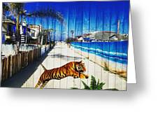 Beach Tiger  Greeting Card