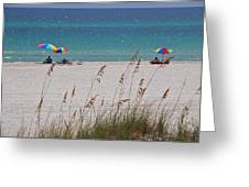 Beach Time At The Gulf - Before The Oil Spill Disaster Greeting Card