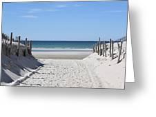 Beach Time Entrance Greeting Card