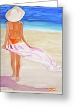 Beach Towel Greeting Card