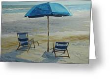 Beach Umbrella - Hilton Head Greeting Card