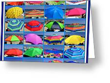 Beach Umbrella Medley Greeting Card