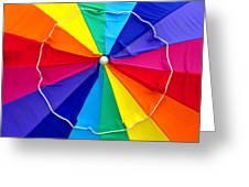 Beach Umbrella Panoramic Greeting Card
