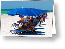 Beach Umbrellas By Darrell Hutto Greeting Card