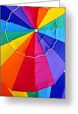 Beach Umbrella's Cell Phone Art Greeting Card