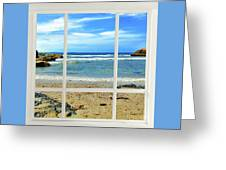 Beach View From Your Living Room Window Greeting Card