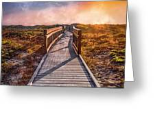 Beach Walk In The Dunes Greeting Card