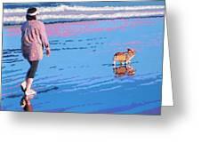 Beach Walk V.4 Greeting Card