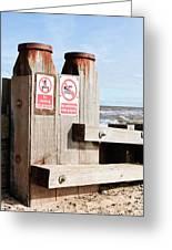 Beach Warning Greeting Card