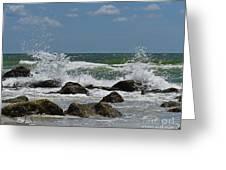 Beach Waves001 Greeting Card