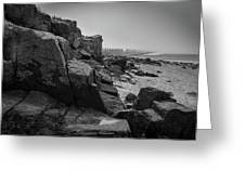 Beach With Anti-pylons Greeting Card
