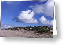 Beach With Clouds Greeting Card