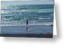 Beachcomber Greeting Card