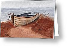 Beached Boat Greeting Card