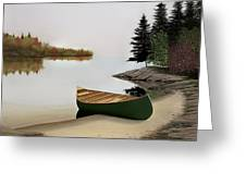 Beached Canoe In Muskoka Greeting Card