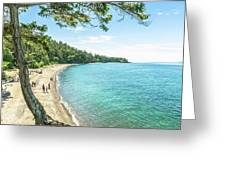 Beaches Of The Pacific Northwest Greeting Card