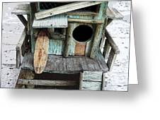 Beachfront Birdhouse For Rent 1 Greeting Card
