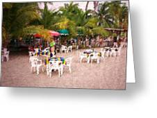 Beachfront Cafe Greeting Card