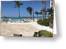 Beachfront Patio Greeting Card