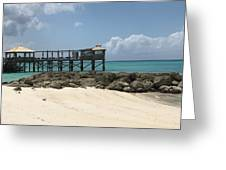 Beachfront Pier Greeting Card