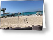 Beachfront Vollyball Greeting Card
