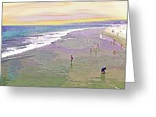 Beachgoers 1 Greeting Card