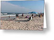 Beaching On The Atlantic Ocean Greeting Card
