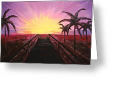Beachside Sunset Greeting Card