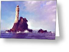 Beacon On The Rock Greeting Card