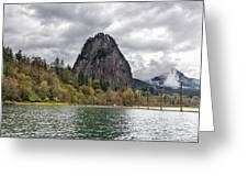 Beacon Rock At Columbia River Gorge Greeting Card