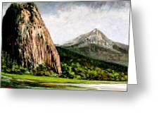 Beacon Rock Washington Greeting Card
