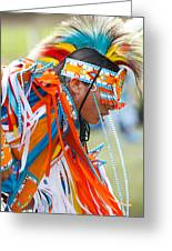 Beaded Pow Wow Dancer Greeting Card