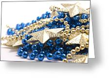 Beads And Stars Greeting Card