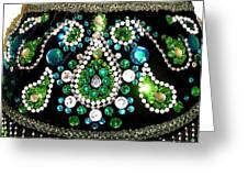 Beadwork And Rhinestones. Belly Dance Fashion Greeting Card