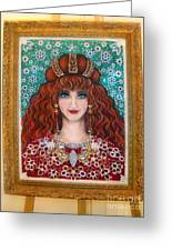 Sarah Goldberg Beauty Queen. Beadwork Greeting Card