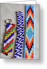 Beadwork Greeting Card by Tracy Hall