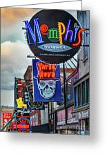 Beale Street Neon Greeting Card