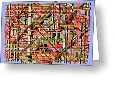 Beams Abstract Art Greeting Card