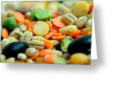 Bean Pile Greeting Card