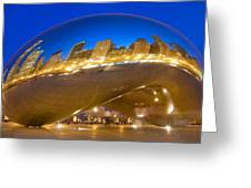 Bean Reflections Greeting Card by Donald Schwartz