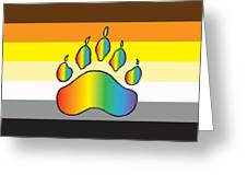 Bear Colors With Rainbow Paw Greeting Card
